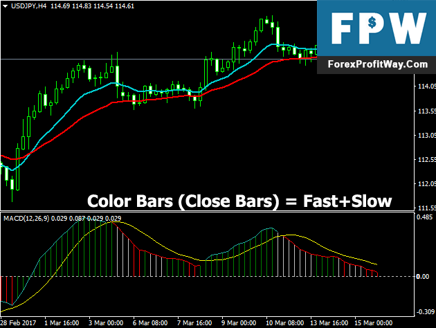Download MACD Close Bars Forex Indicator For Mt4